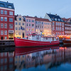 Nyhavn in Copenhagen at night