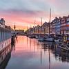 Nyhavn in Copenhagen at sunset