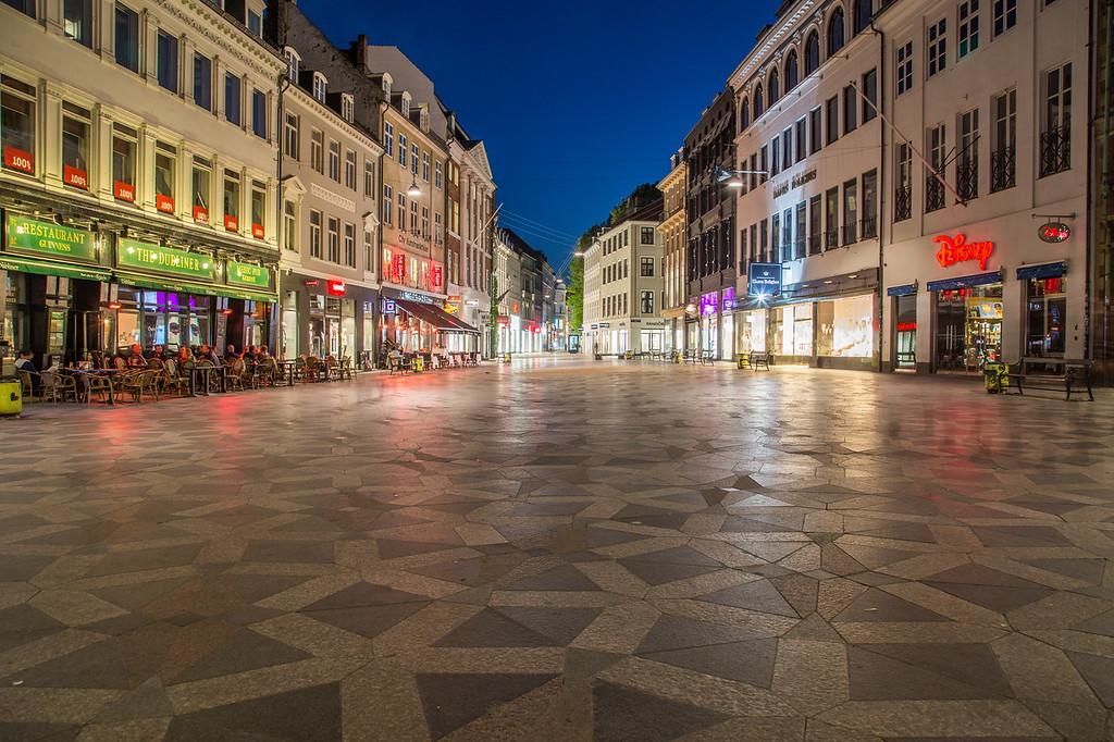 Stroget in Copenhagen at night