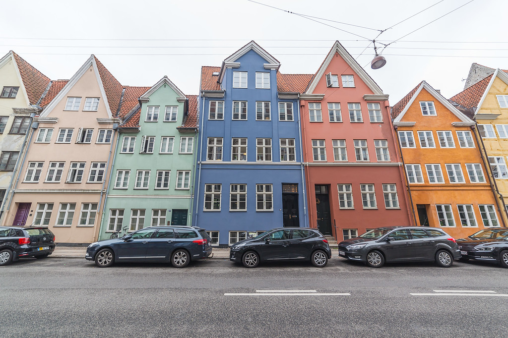 Colourful architecture in Copenhagen