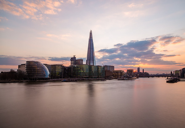 Shard, City Hall and Other buildings in London