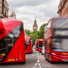 Big Ben, Elizabeth Tower and London Traffic