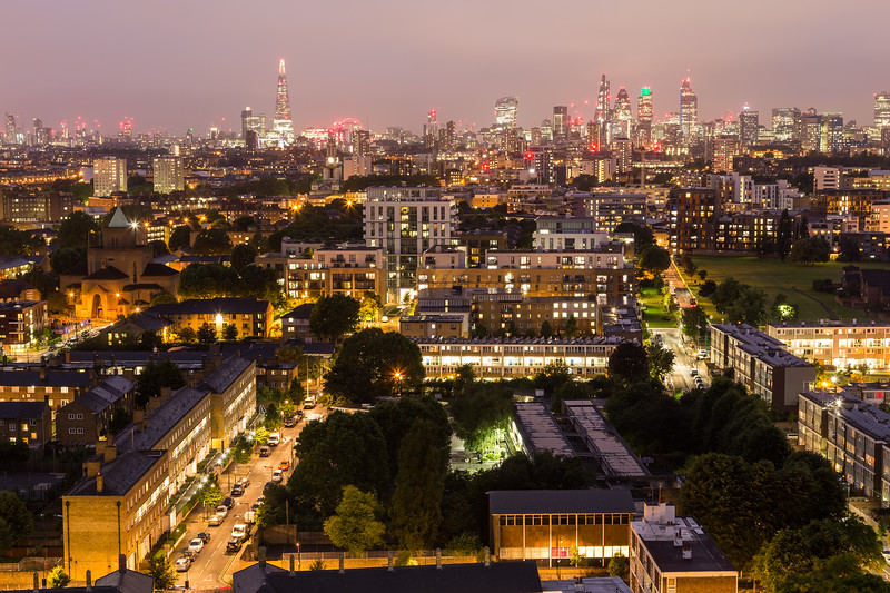 City of London Skyline at Night