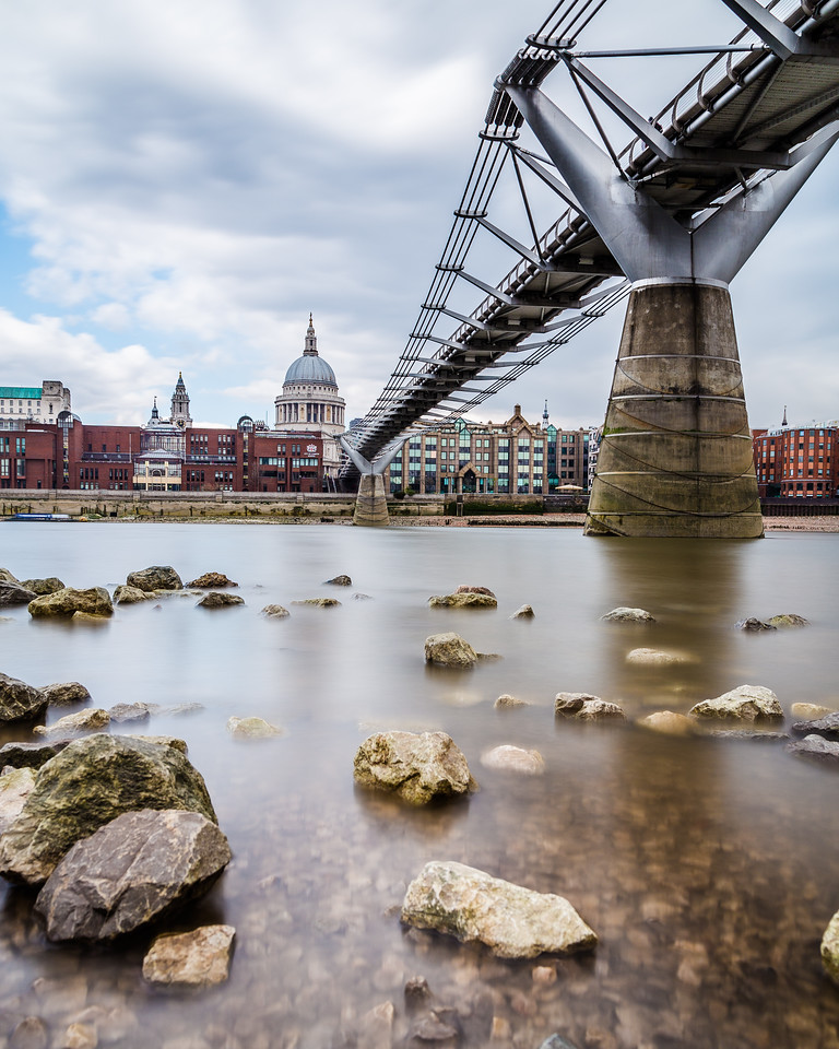 St Paul's Cathedral and Millenium Bridge