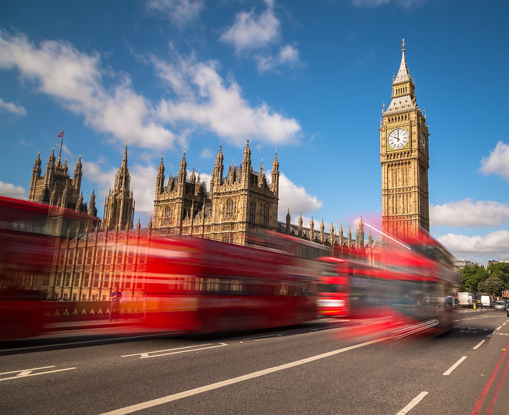 Big Ben and London Buses