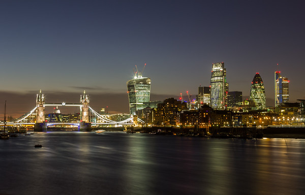 London City and Tower Bridge