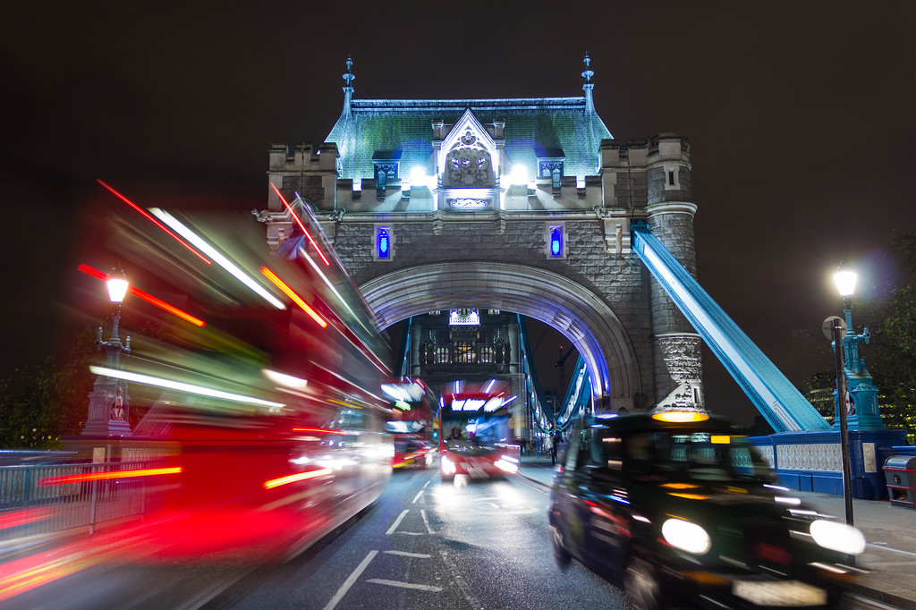 Tower Bridge and London Traffic