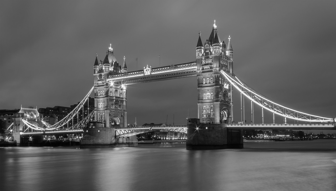 Tower Bridge in Black and White