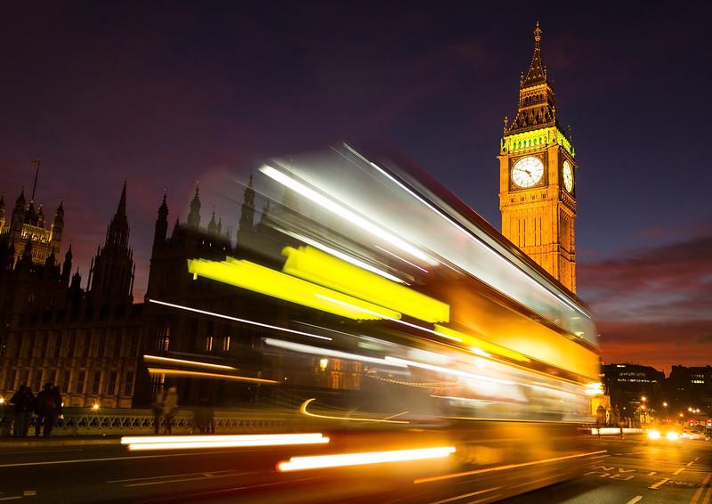 Big Ben and London Bus