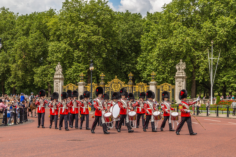 Musicians at the Changing of the Guard Performance at Buckingham Palace