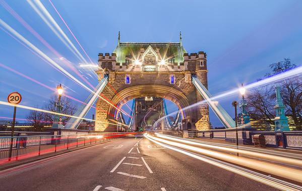 Tower Bridge and Traffic