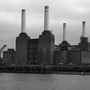 Battersea Power Station Black and White