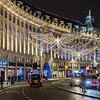 Regent Street in London at Christmas in 2017