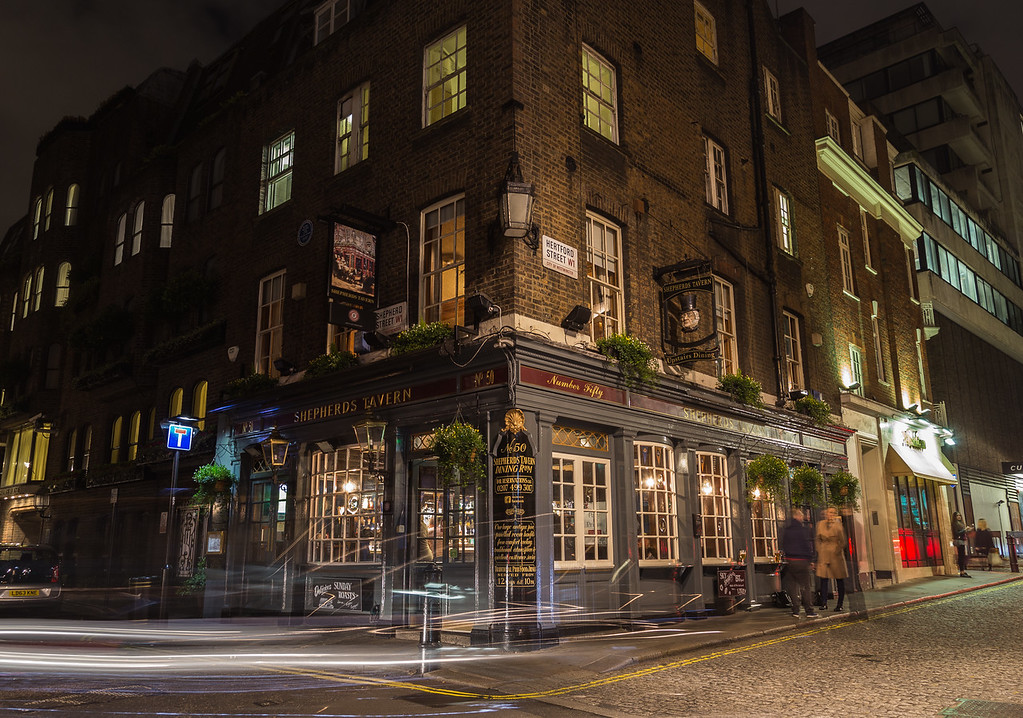 Shepherds Tavern Pub in Mayfair, London
