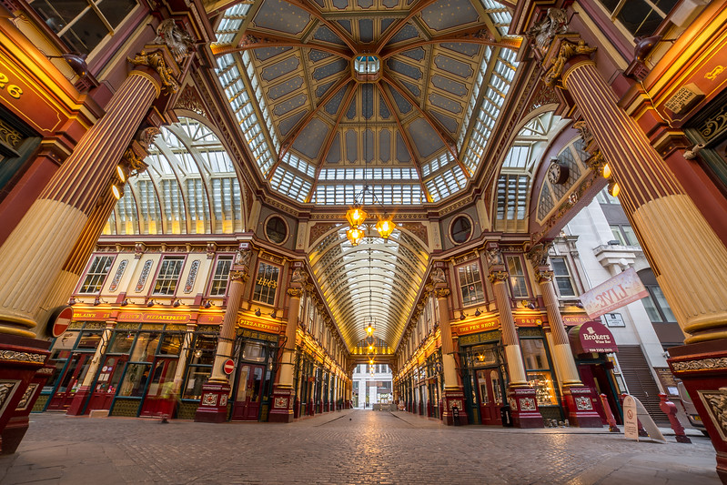 Leadenhall Market in the City of London
