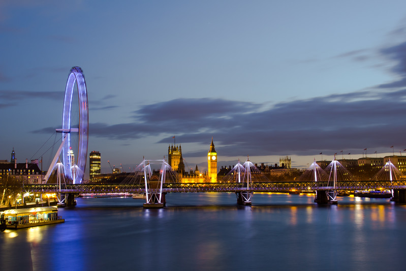 London Night Cityscape