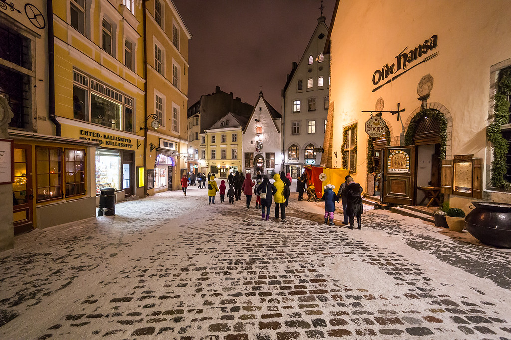 Old Town Tallinn in the Winter