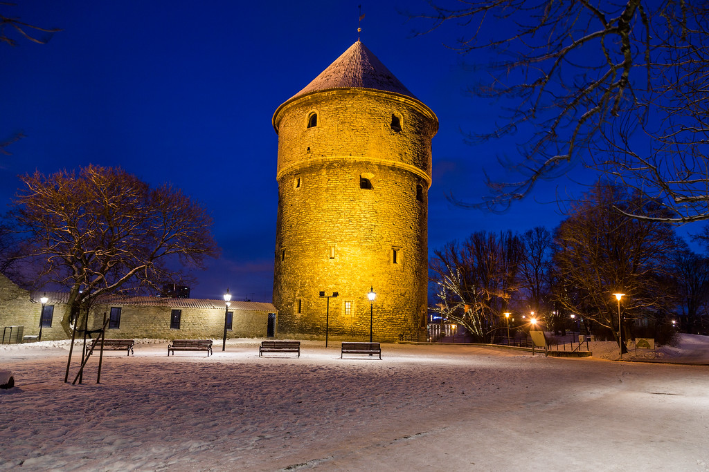 Kiek in de Kök in Tallinn at night
