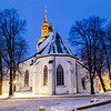 St Mary's Cathedral in Tallinn at dawn