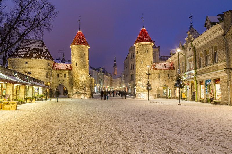 Viru Gate and Tallinn Town Hall