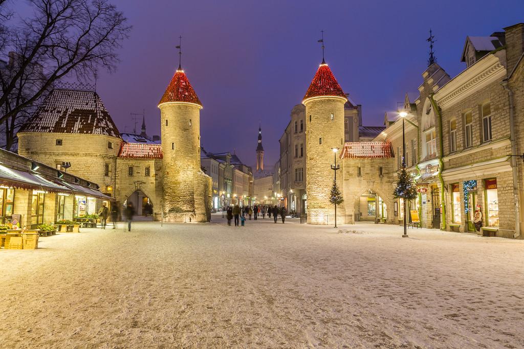 Viru Gate and Tallinn Town Hall