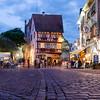 Scenes and architecture in Colmar at Night