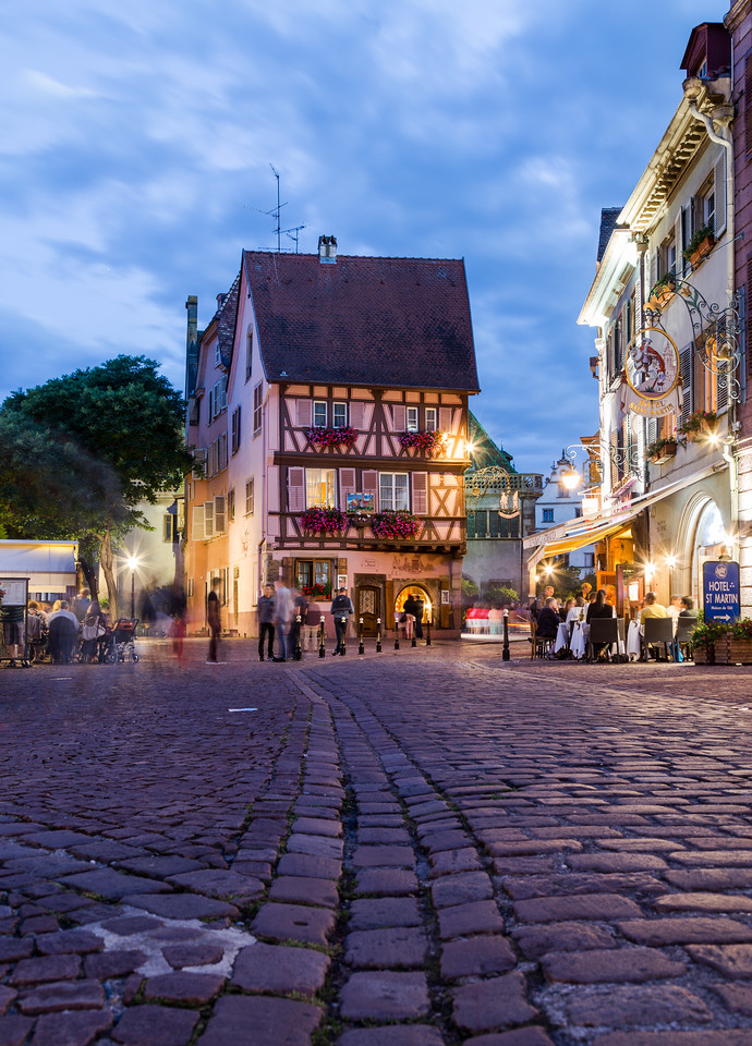 Scenes and architecture in Colmar at Night