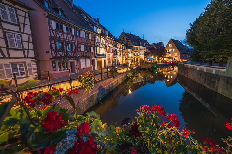 Scenes of Colmar at Night