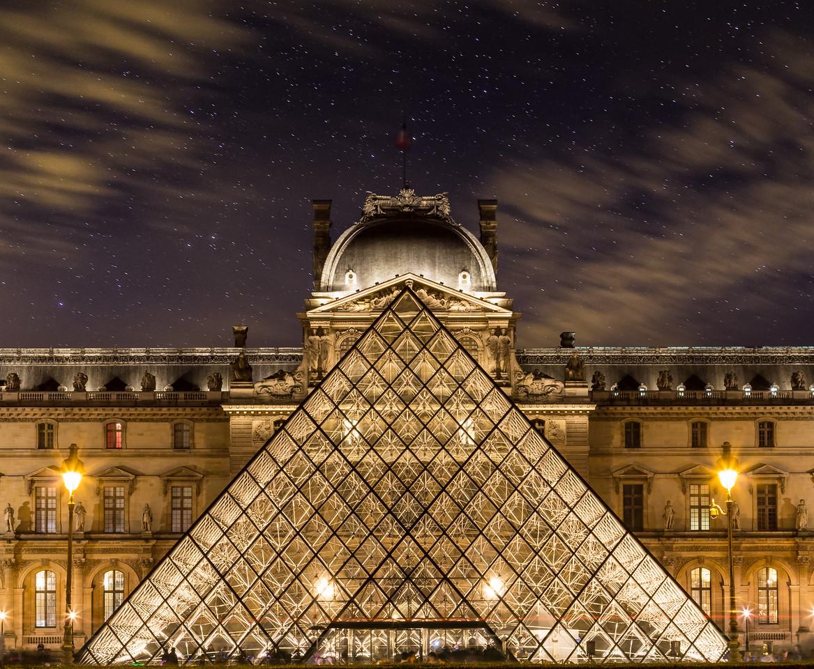Louvre in Paris at Night