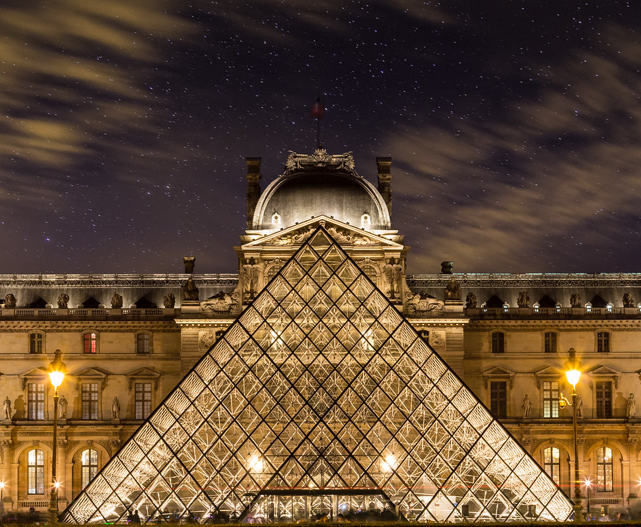 Louvre in Paris at Night
