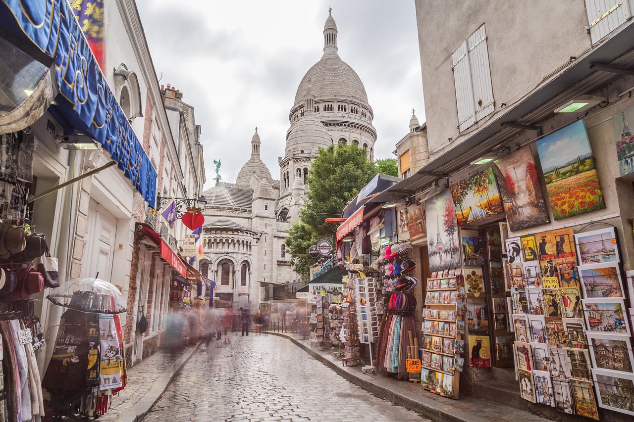 Sacre Coeur and Montmarte in Paris