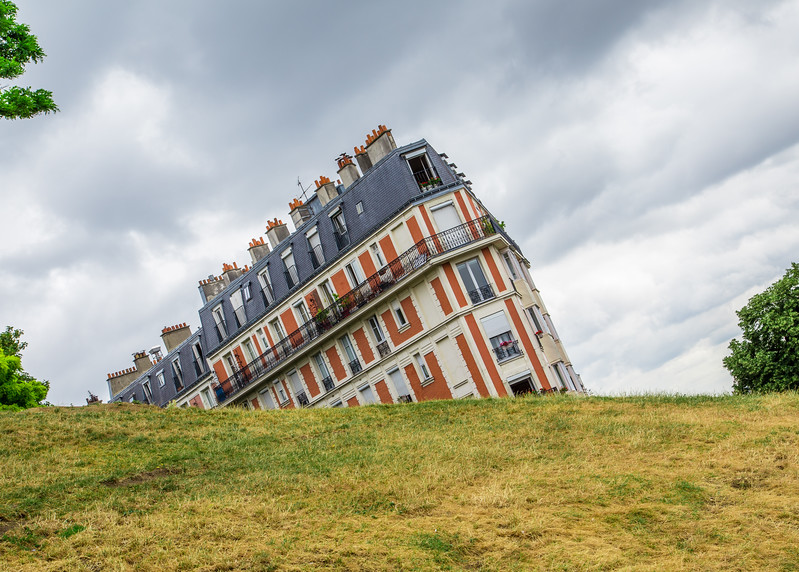 Buildings in Montmarte Paris