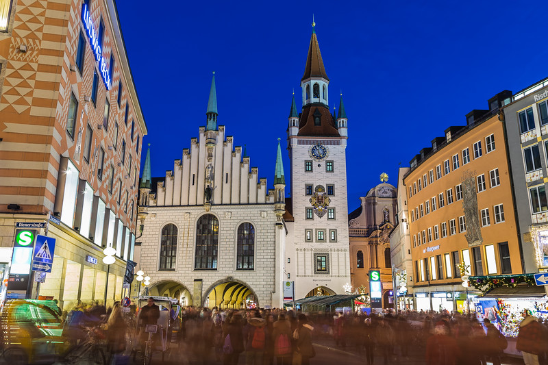 Old Town Hall in Munich at dusk