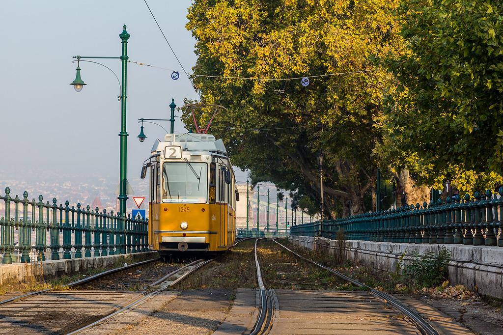 Line 2 Tram in Budapest
