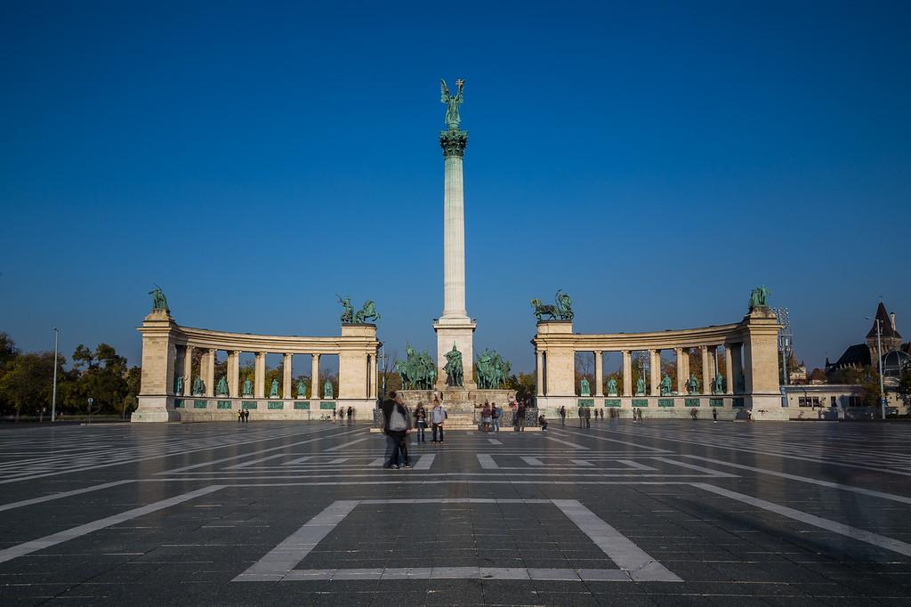 Millennium Memorial at Heroes' Square in Budapest