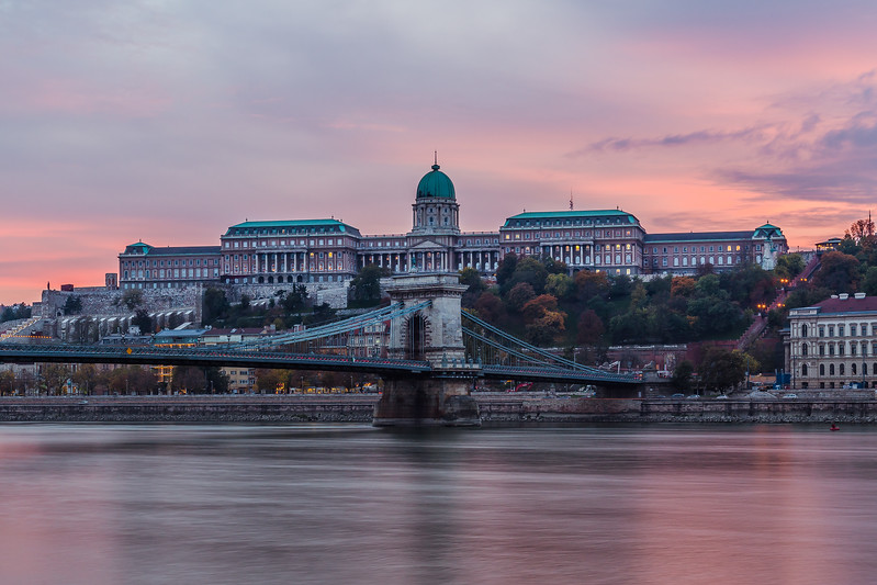 Buda Castle in Budapest at Sunset