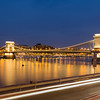 Szechenyi Chain Bridge in Budapest at Night