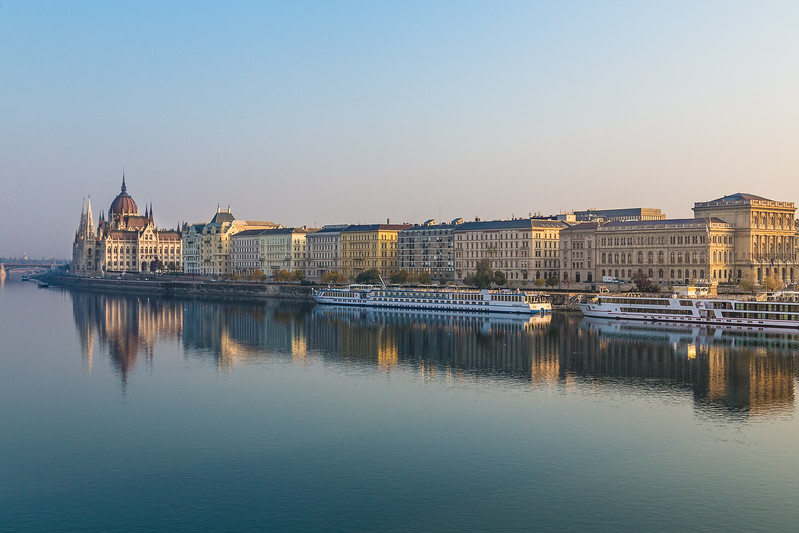 Buildings along the River Danube in Budapest