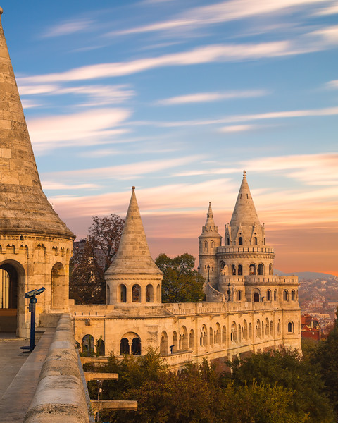 Part of Fishermans Bastion in Budapest
