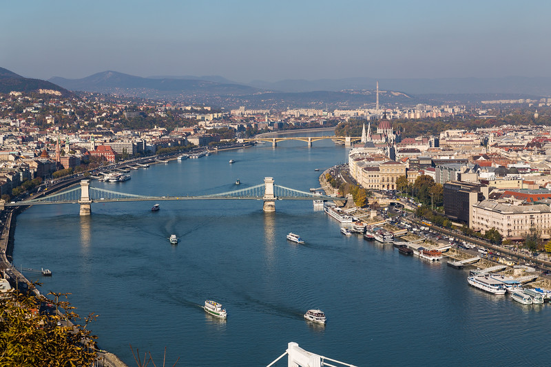 Budapest High View During the Day