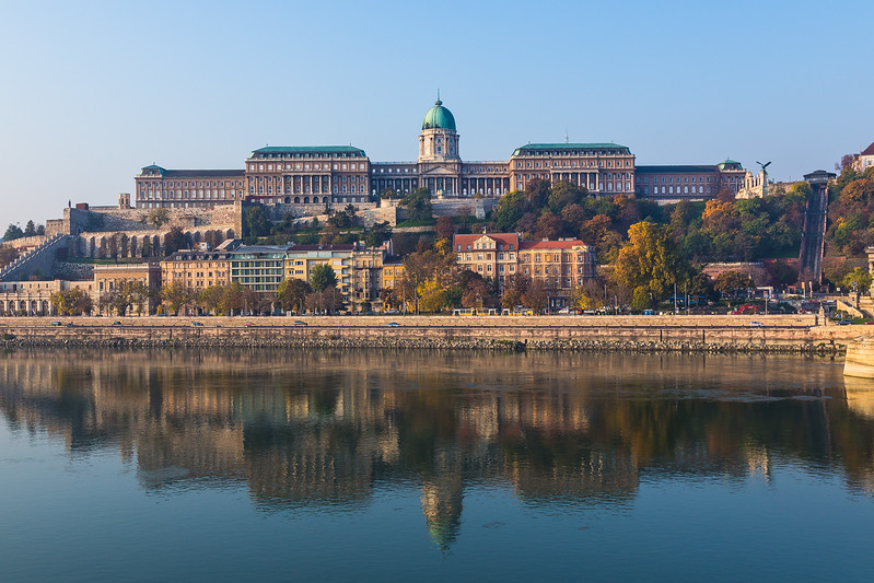 Buda Castle in Budapest from the Danube River