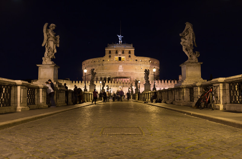 Castel Sant'Angelo (Castle of the Holy Angel) from the Ponte Sant'Angelo bridge