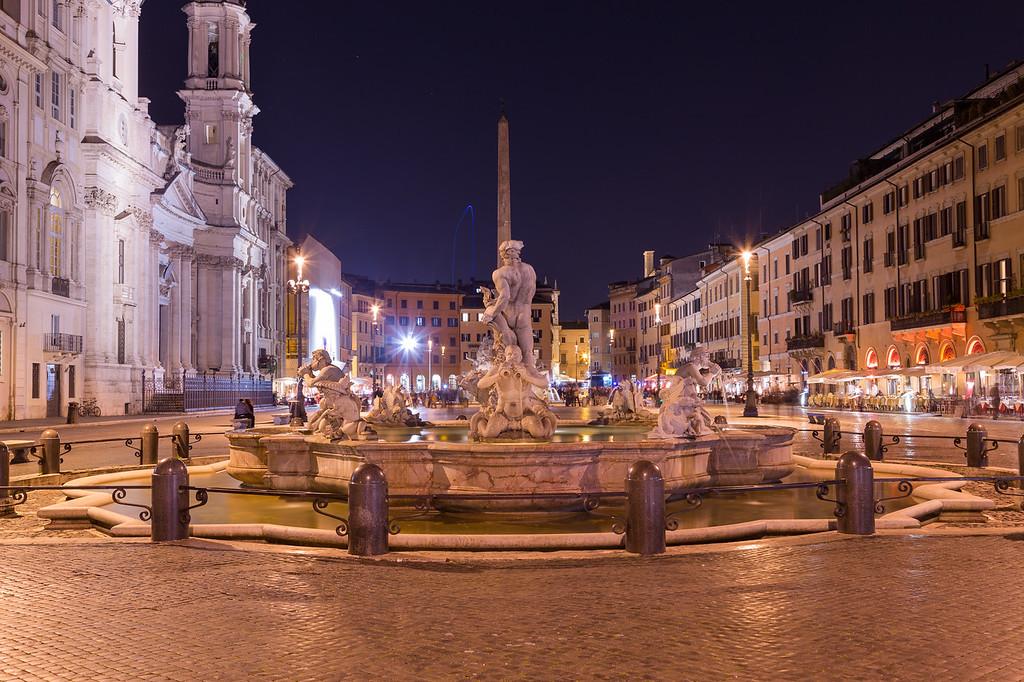 Piazza Navona Rome at Night