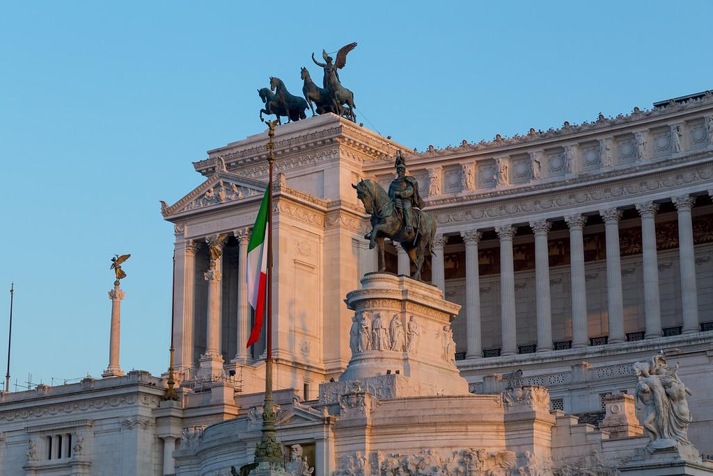 Piazza Venezia and Vittoriano Emanuele Monument