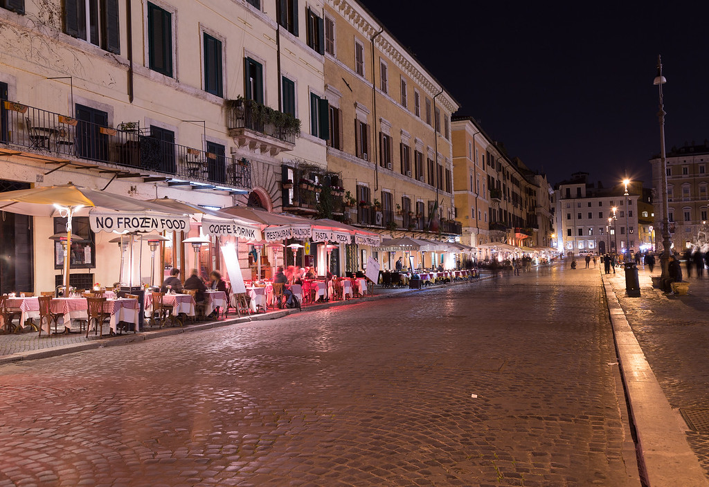 Restaurants at Piazza Navona in Rome