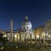 Trajan's Forum (Foro Di Traiano) and Trajan's Column at night