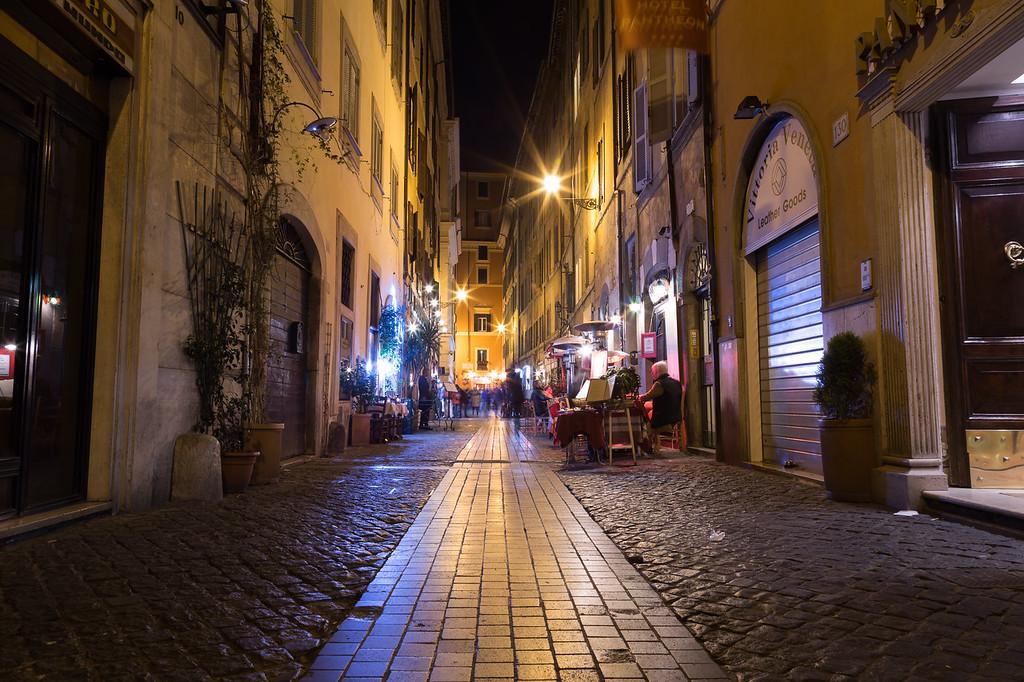 Via dei Pastini Street in Rome