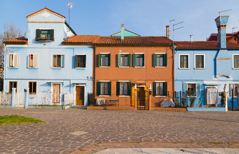 Buildings in Burano