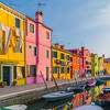 Streets of Burano at Sunset