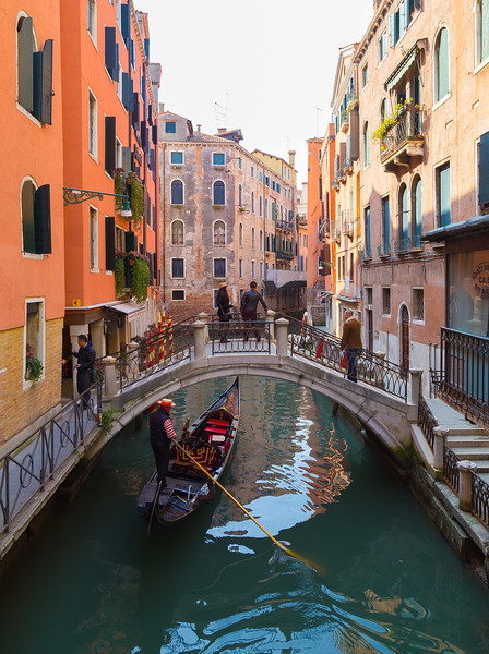 Streets of Venice and Gondolas